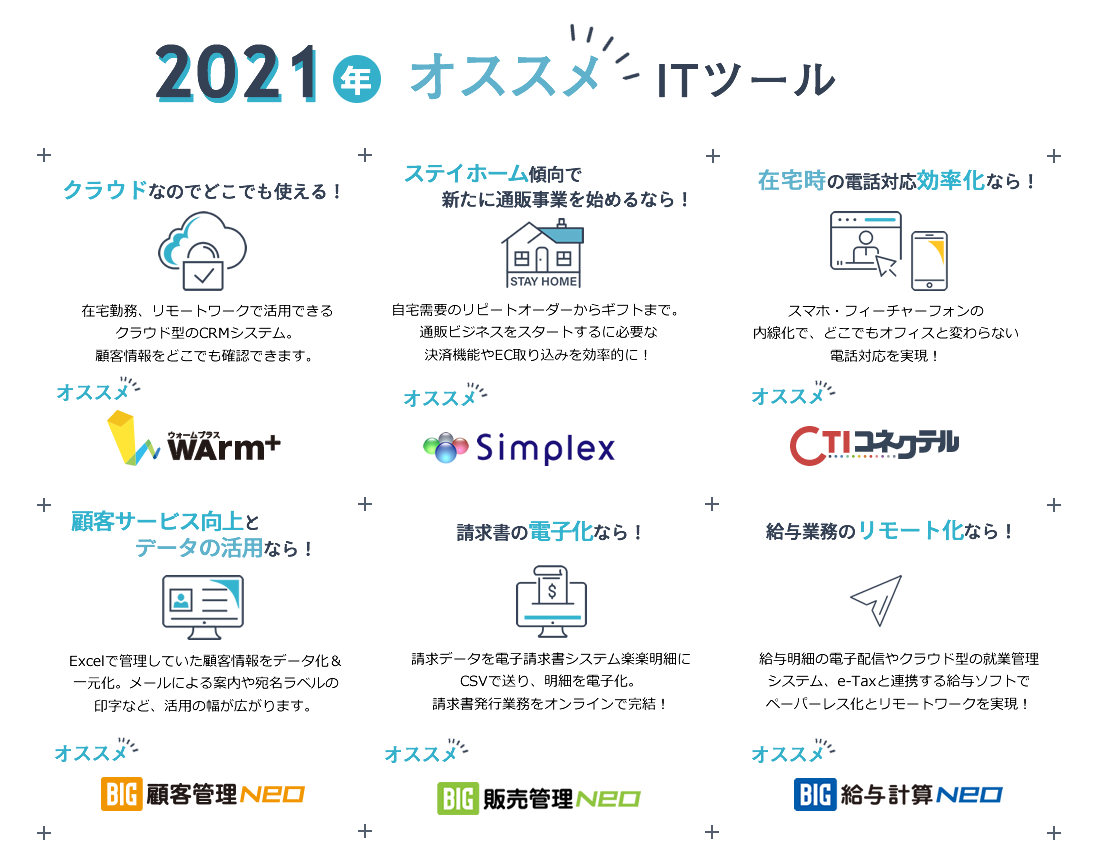 IT補助金2021おススメツール
